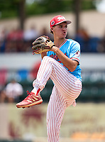 Cardinal Gibbons Chiefs pitcher David Rossow (17) during the 42nd Annual FACA All-Star Baseball Classic on June 5, 2021 at Joker Marchant Stadium in Lakeland, Florida.  (Mike Janes/Four Seam Images)