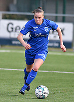 pictured during a female soccer game between  Racing Genk Ladies and SV Zulte-Waregem on the 7 th matchday of play off 2 in the 2020 - 2021 season of Belgian Scooore Womens Super League , friday 14 th of May 2021  in Genk , Belgium . PHOTO SPORTPIX.BE   SPP   JILL DELSAUX