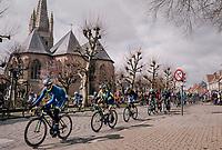 Kenny Dehaes (BEL/WB Aqua Protect-Veranclassic) & friends shredding through town<br /> <br /> Driedaagse Brugge-De Panne 2018<br /> Bruges - De Panne (202km)