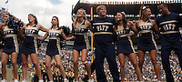 Pitt dance team sings Sweet Caroline. The Notre Dame Fighting Irish defeated the Pitt Panthers 15-12 at Heinz field in Pittsburgh, Pennsylvania on September 24, 2011.