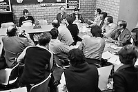 1978,Netherlands,ABN tennis Tournament, Rotterdam,press conference with Jimmy Connors (USA)