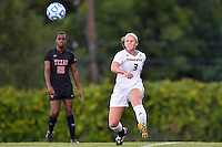 Texas State defender Brenna Smith (3) during first half of NCAA soccer game, Sunday, September 21, 2014 in San Marcos, Tex. Texas defeated Texas State 2-0. (Mo Khursheed/TFV Media via AP Images)