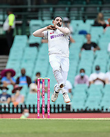 8th January 2021; Sydney Cricket Ground, Sydney, New South Wales, Australia; International Test Cricket, Third Test Day Two, Australia versus India; Mohammed Siraj of India bowling