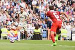 Real Madrid's Danilo Luiz Da Silva and Sevilla FC Daniel Filipe Carriço during La Liga match between Real Madrid and Sevilla FC at Santiago Bernabeu Stadium in Madrid, May 14, 2017. Spain.<br /> (ALTERPHOTOS/BorjaB.Hojas)
