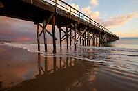 A beautiful winter sunset at Goleta Pier, Goleta, California