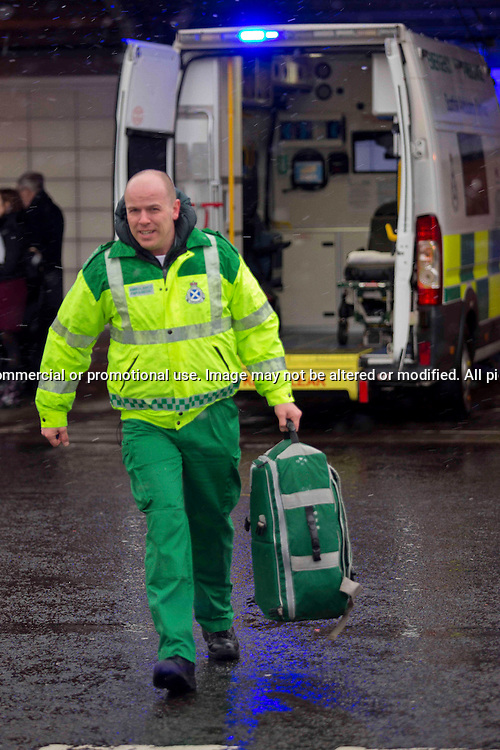 Ricky Paton, Ambulance Paramedic, Edinburgh<br /> <br /> Image by: Malcolm McCurrach - New Wave Images - 19/03/2013