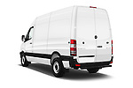 Car pictures of rear three quarter view of 2017 Mercedes Benz Sprinter 2500-144-WB-High-Roof 4 Door Cargo Van Angular Rear
