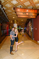 LAS VEGAS, NV - July 15, 2021: Dylan Barbour and Hannah Godwin pictured at Benihana Restaurant at Westgate Las Vegas Resort & Casino in Las Vegas, NV on July 15, 2021. <br /> CAP/MPI/GDP<br /> ©GDP/MPI/Capital Pictures