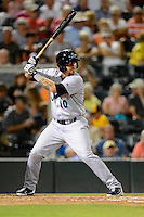 Jupiter Hammerheads first baseman Josh Adams #10 during a game against the Fort Myers Miracle on April 9, 2013 at Hammond Stadium in Fort Myers, Florida.  Fort Myers defeated Jupiter 1-0.  (Mike Janes/Four Seam Images)