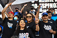 SAN JOSE, CA - JUNE 26: San Jose Earthquakes fans during a game between Los Angeles Galaxy and San Jose Earthquakes at PayPal Park on June 26, 2021 in San Jose, California.