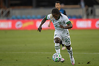SAN JOSE, CA - SEPTEMBER 16: Yammi Chara #23 of the Portland Timbers controls the ball during a game between Portland Timbers and San Jose Earthquakes at Earthquakes Stadium on September 16, 2020 in San Jose, California.