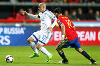 Spain's Diego Costa (r) and Israel's Tal Ben Chaim during FIFA World Cup 2018 Qualifying Round match. March 24,2017.(ALTERPHOTOS/Acero) /NortePhoto.com