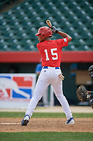 Christian Ortiz (15) during the Dominican Prospect League Elite Underclass International Series, powered by Baseball Factory, on August 2, 2017 at Silver Cross Field in Joliet, Illinois.  (Mike Janes/Four Seam Images)