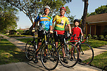 Hans Mayer, his son Larry Estes , and his son Ian Eastes will ride together in the upcoming MS150. The trio was photographed Friday  April 6,2007.(Dave Rossman/For the Chronicle)