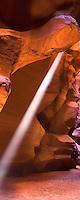 Arizona's Upper Antelope Canyon boasts colorful sandstone and beautiful rays of light
