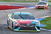 #18: Kyle Busch, Joe Gibbs Racing, Toyota Camry M&M's Hazelnut, #19: Martin Truex Jr., Joe Gibbs Racing, Toyota Camry Bass Pro Shops