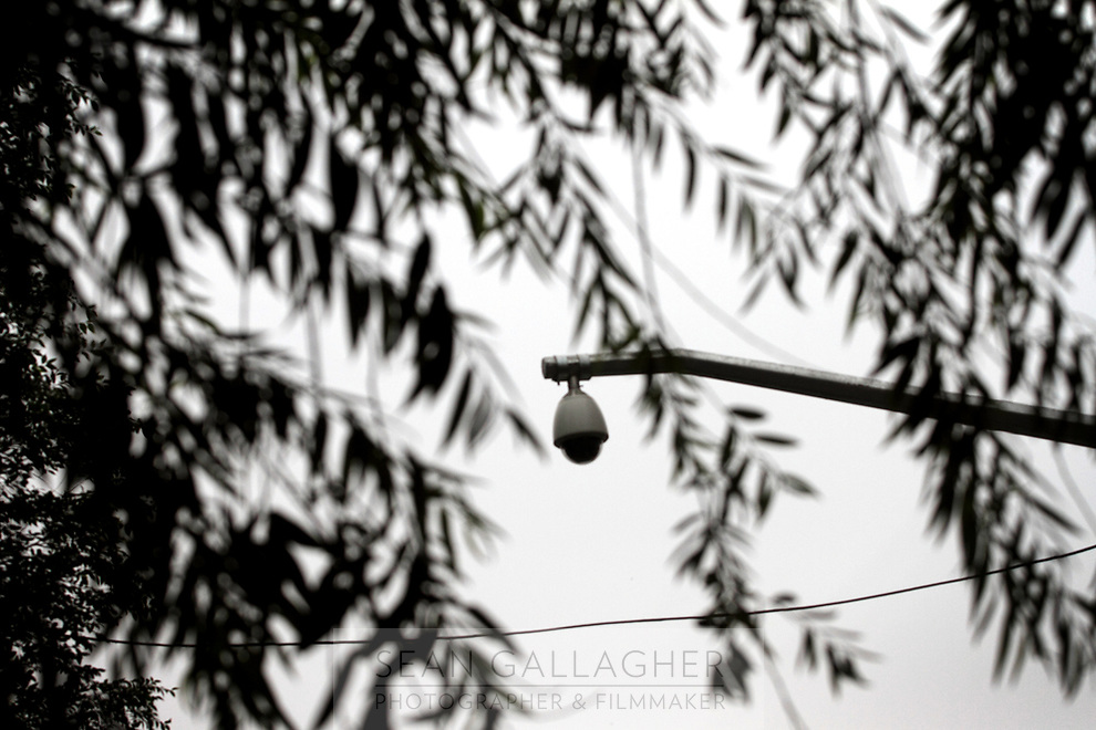 CHINA. Security cameras located in the Tibetan district of Xining, the capital of Qinghai province in the west of the country. Installed in 2009, the cameras keep a watchful eye on the large populations of Tibetans and Muslims who live and work in the district. 2010