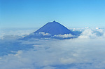 Mount Pico seen from the plane