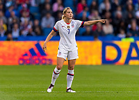 LE HAVRE,  - JUNE 20: Abby Dahlkemper #7 organizes the defense during a game between Sweden and USWNT at Stade Oceane on June 20, 2019 in Le Havre, France.