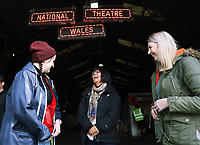 "Pictured L-R: Co-director Rhiannon White, Artistic director Kully Thiarai and writer Rachel Trezise <br /> Re: Press rehearsal of ""We'Re Still Here"", a play created by Rachel Trezise, Common Wealth and the National Theatre Wales about steelworkers, which will be performed in Byass Works, a disused industrial unit, in Port Talbot, south Wales, UK."