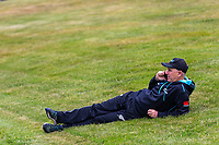 20th November 2020; John Davies Oval, Queenstown, Otago, South Island of New Zealand. Black Caps coach Gary Stead is pictured on the phone at New Zealand A versus  West Indies