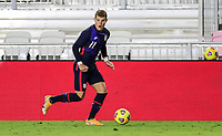 FORT LAUDERDALE, FL - DECEMBER 09: Chris Mueller #11 of the United States chases down a loose ball during a game between El Salvador and USMNT at Inter Miami CF Stadium on December 09, 2020 in Fort Lauderdale, Florida.