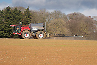 9.3.2021 Pre-emergence spraying on Spring drilling in Rutland <br /> ©Tim Scrivener Photographer 07850 303986<br />      ....Covering Agriculture In The UK....