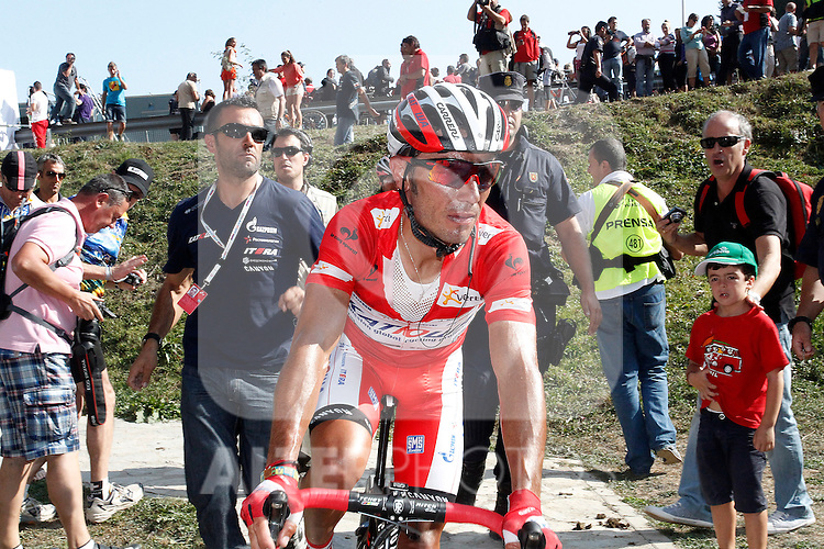 Joaquin Purito Rodriguez comes to the finish during the stage of La Vuelta 2012 beetwen Santander-Fuente De.September 5,2012. (ALTERPHOTOS/Paola Otero)