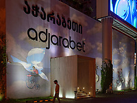 Club Adjarabet am Theaterplatz, Batumi, Adscharien - Atschara, Georgien, Europa<br /> club Adjarabet at theatre square,  Batumi, Adjara,  Georgia, Europe