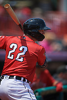 Erie SeaWolves Kody Eaves (22) during an Eastern League game against the Akron RubberDucks on June 2, 2019 at UPMC Park in Erie, Pennsylvania.  Akron defeated Erie 7-2 in the first game of a doubleheader.  (Mike Janes/Four Seam Images)