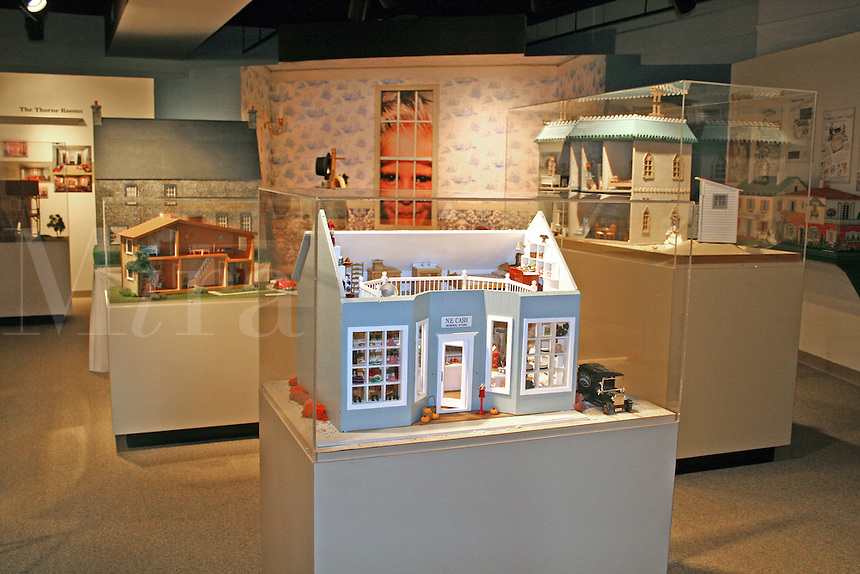 Historical exhibit dollhouse at Wentworth Florida State Museum Pensacola Florida