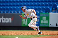 Michigan Wolverines left fielder Miles Lewis (3) running the bases during a game against Army West Point on February 18, 2018 at Tradition Field in St. Lucie, Florida.  Michigan defeated Army 7-3.  (Mike Janes/Four Seam Images)