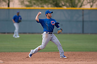 Chicago Cubs second baseman Rafael Narea (13) during a Minor League Spring Training game against the Colorado Rockies at Sloan Park on March 27, 2018 in Mesa, Arizona. (Zachary Lucy/Four Seam Images)