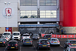 The Birmingham team coach arrives at  the Riverside stadium Middlesbrough, 16th January 2021, Middlesbrough 0 Birmingham 1, for WSC.