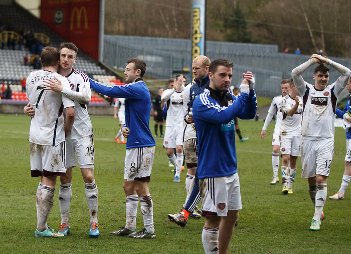 Dejection as Hearts are relegated