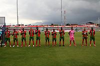 TULUA - COLOMBIA, 10-09-2021: Cortulua y Tigres F. C. durante partido de la fecha 8 por el Torneo BetPlay DIMAYOR II 2021 en el estadio Doce de Octubre de la ciudad de Tulua. / Cortulua and Tigres F. C. during a match of the 8th for the BetPlay DIMAYOR II 2021 Tournament at Doce de Octubre stadium in Tulua city. / Photo: VizzorImage / Samir Rojas / Cont.