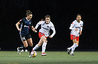 Seattle, WA - Saturday March 24, 2018: Jodie Taylor, Andi Sullivan, Arielle Ship during a regular season National Women's Soccer League (NWSL) match between the Seattle Reign FC and the Washington Spirit at the UW Medicine Pitch at Memorial Stadium. The Seattle Reign FC won 2-1.