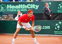 14-09-12, Netherlands, Amsterdam, Tennis, Daviscup Netherlands-Swiss,  Thiemo de Bakker   Roger Federer
