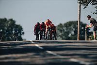 7th September 2021: Llandeilo, Wales:The AJ Bell Tour Of Britain 2021. Stage 3 Llandeilo to National Botanic Garden of Wales. Team Time Trial. Team Arkea Samsic. SWIFT Connor, BOUET Maxime, MCLAY Daniel, OWSIAN Łukasz, WELTEN Bram .
