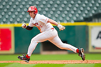 Matt Creel #43 of the Houston Cougars takes off for second base against the Baylor Bears at Minute Maid Park on March 4, 2011 in Houston, Texas.  Photo by Brian Westerholt / Four Seam Images