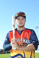 Alex Bregman (6) of the Lancaster JetHawks poses for a photo before a game against the High Desert Mavericks at The Hanger on September 5, 2015 in Lancaster, California. High Desert defeated Lancaster, 7-6. (Larry Goren/Four Seam Images)