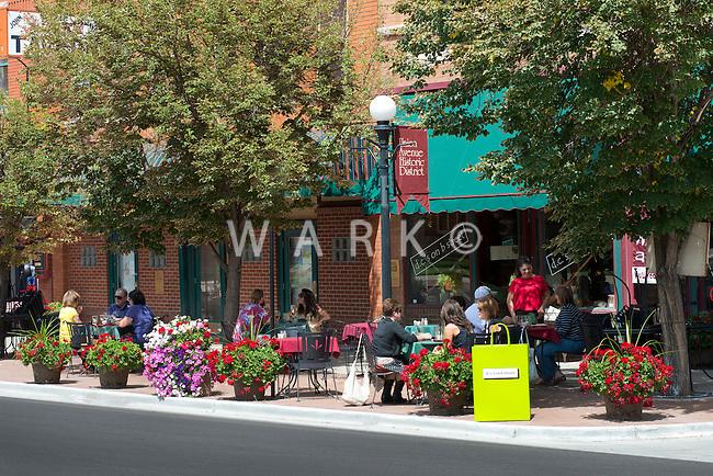 Street scenes along B Street and Union Avenue, Pueblo, Colorado.  Summer 2012