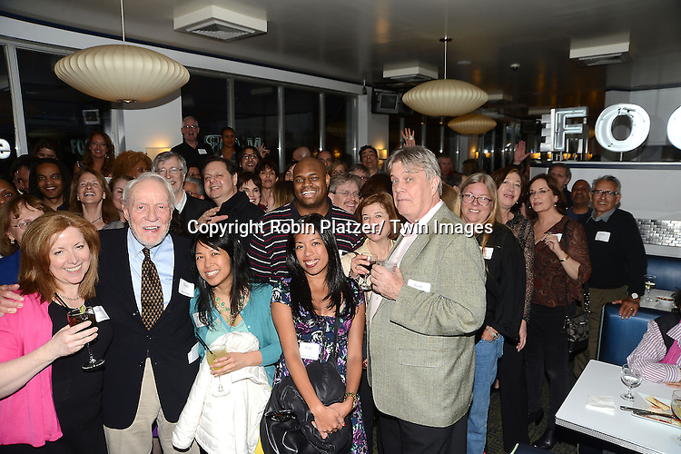 group shot at the  People Magazine Employees Reunion on April 26, 2013 at Burger Heaven at 804  Lexington Avenue in New York City.