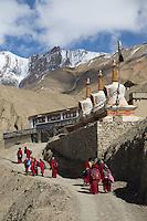 Monks at Lama Yuru Monastery, Ladakh