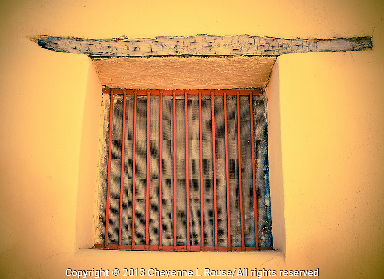 Viga Window in golden Adobe - Arizona