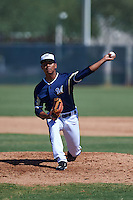 Milwaukee Brewers Quintin Torres-Costa (23) throws live batting practice on a side field before an instructional league game against the Cleveland Indians on October 8, 2015 at the Maryvale Baseball Complex in Maryvale, Arizona.  (Mike Janes/Four Seam Images)