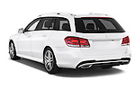 Car pictures of rear three quarter view of a 2015 Mercedes Benz Classe E E250 4Matic 5 Door Wagon 4WD Angular Rear