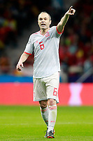 Spain's Andres Iniesta during international friendly match. March 27,2018.(ALTERPHOTOS/Acero) /NortePhoto.com NORTEPHOTOMEXICO