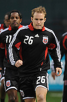DC United defender Bryan Namoff (26) during pre-game warm ups, Chicago Fire tied DC United 1-1at  RFK Stadium, Saturday March 28, 2009.