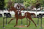 August 15, 2021, Deauville (France) - Artwork on the  Deauville Racecourse. [Copyright (c) Sandra Scherning/Eclipse Sportswire)]